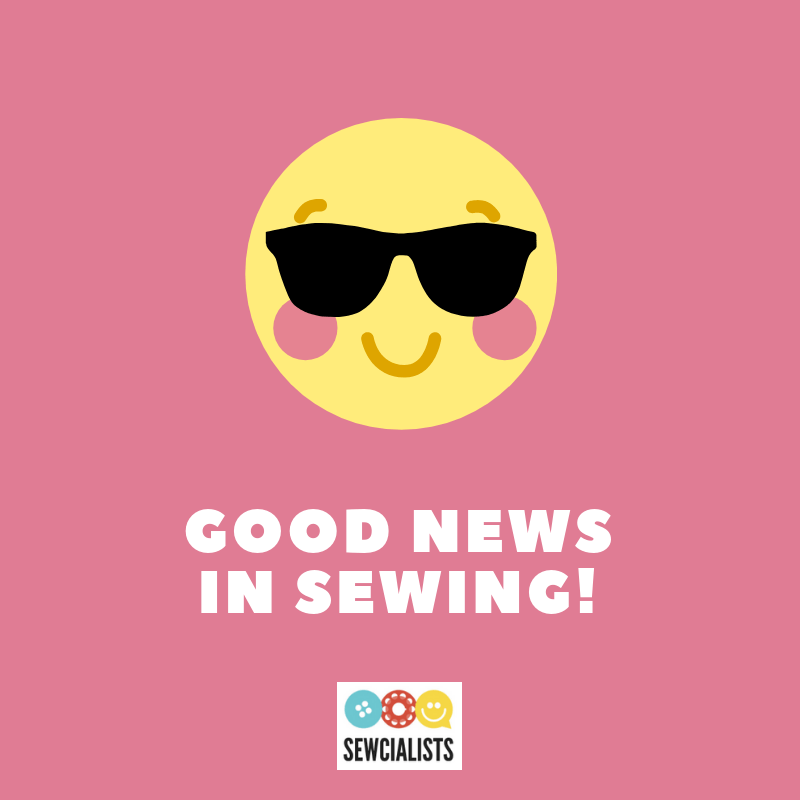 Good News in Sewing logo (a smiley face)