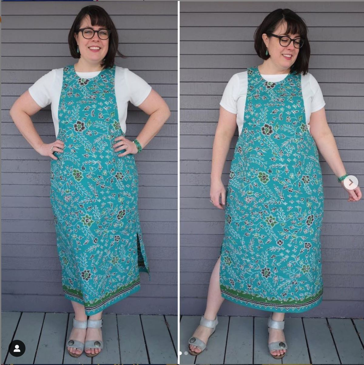 Blue overalls / pinafore style dress