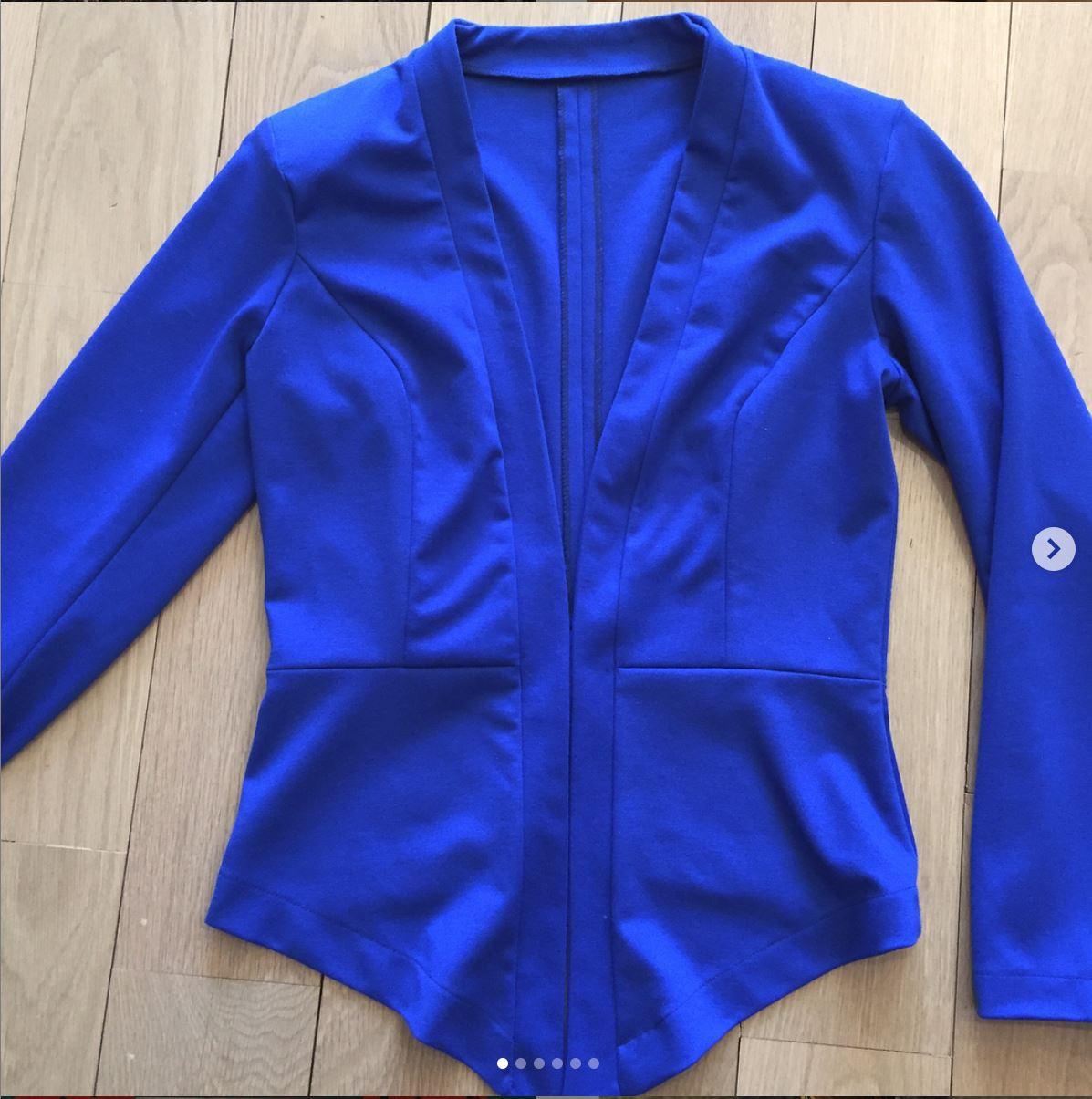 Cobalt blue jacket