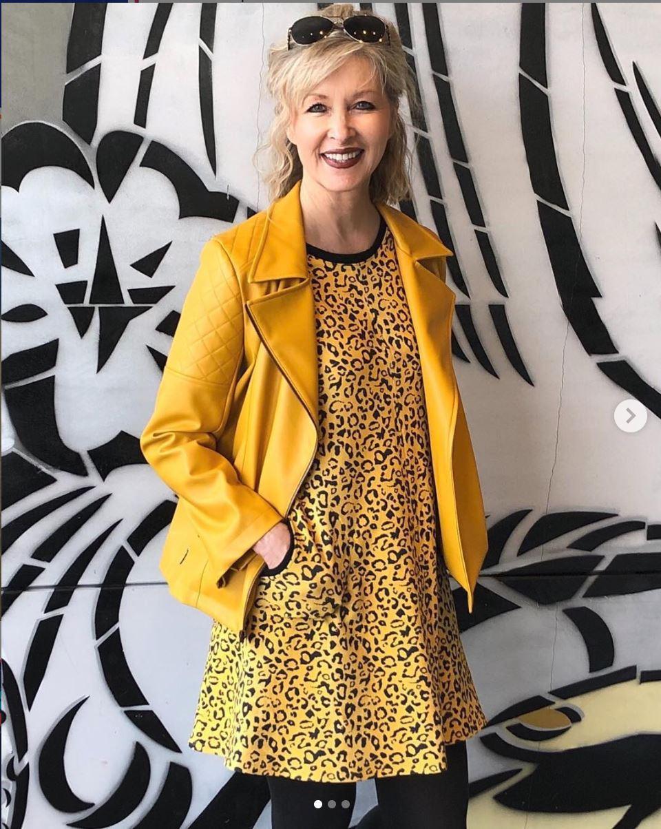 Yellow dress and jacket