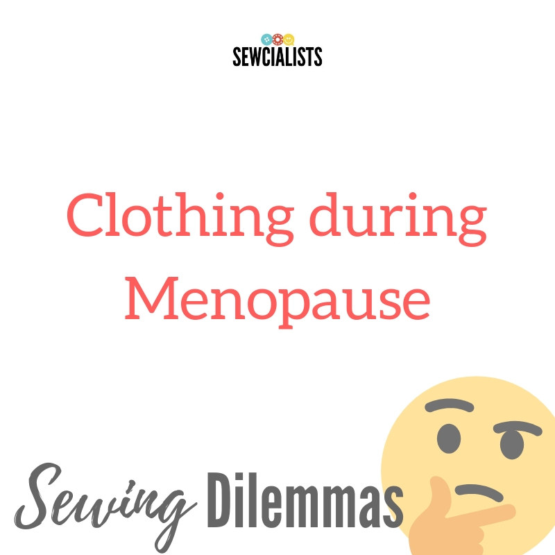 "Graphic saying, ""Clothing during Menopause"""