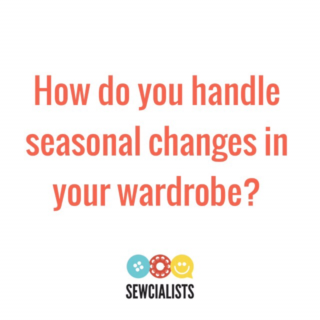 "Graphic saying, ""How do you handle seasonal changes in your wardrobe?"""