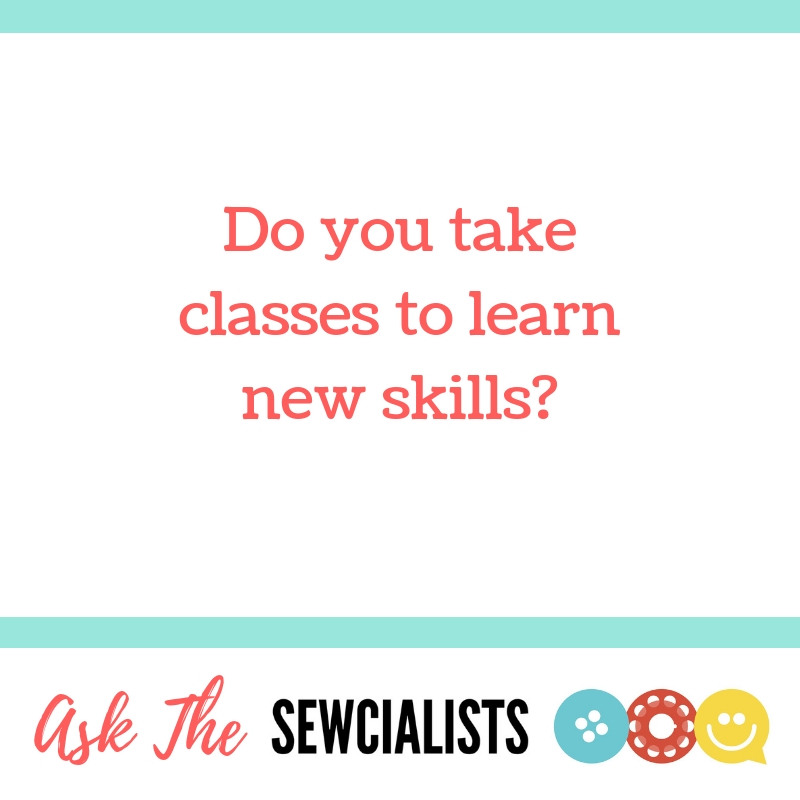 Graphic saying: Do you take classes to learn new skills?