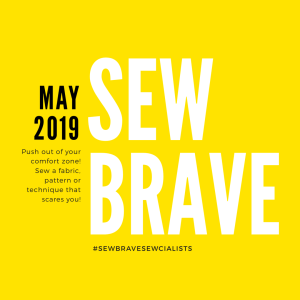 Graphic for Sew Brave theme month May 2019