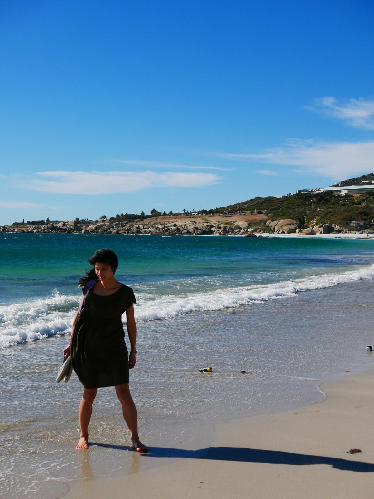 Kate at Australian beach