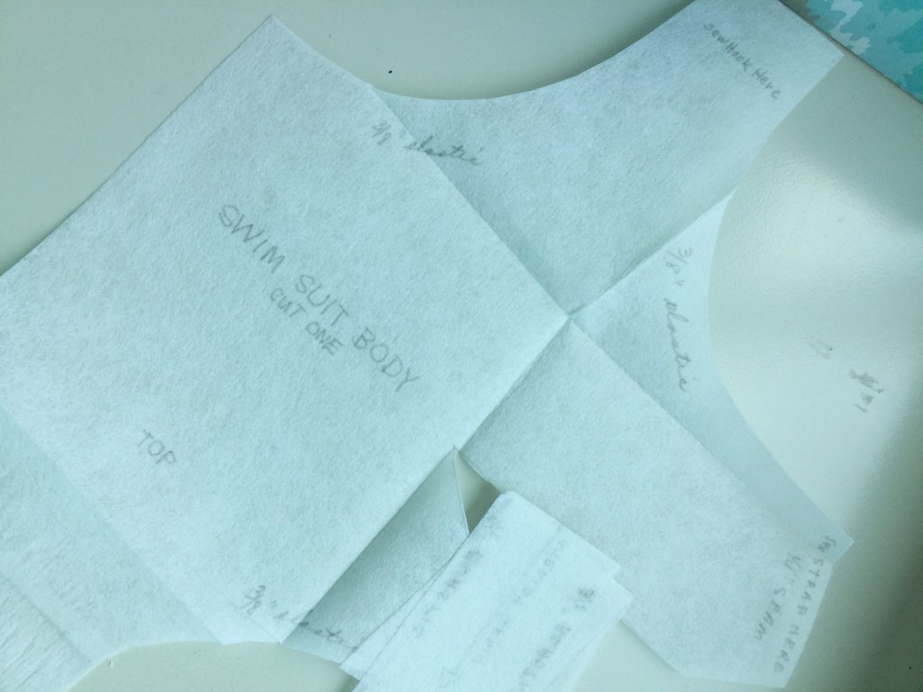 Photo of the pattern traced onto tracing paper by the previous owner.