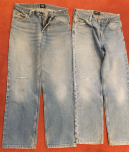 donated jeans