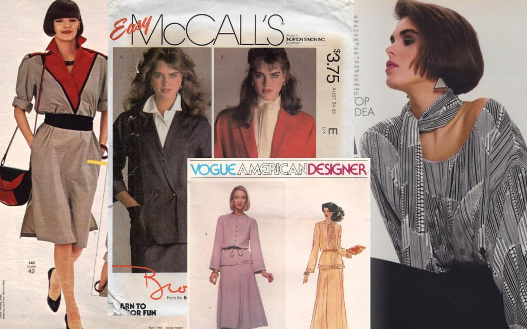 Images from sewing patterns from 1983