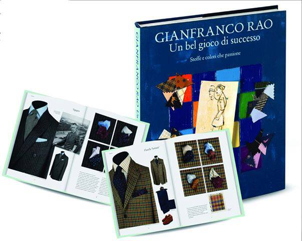 Book cover and two inside layout photos from Un bel gioco di successo: Soffe e colori che passione by Gianfranco Rao