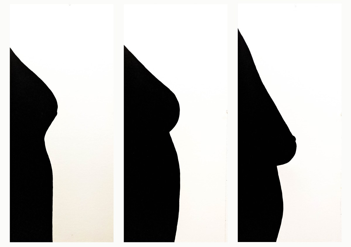 Three more bust silhouettes. The shapes are all quite different, some breasts are larger or smaller, higher or lower on the bodies.