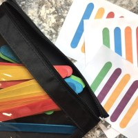 Preschool Busy Bag - Rainbow Popsicle Patterns - Free Printable