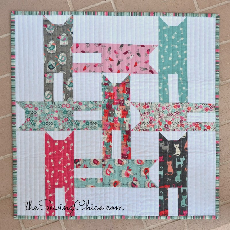 cat weave mini quilt