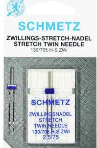 Schmetz stretch tweelingnaald 2,5/75
