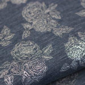 Jeans tricot silver roses