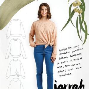 Jarrah sweater- Megan nielsen patterns