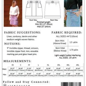 Stella rok- Sew to grow patterns
