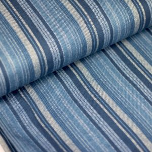 Blue stripes- flanel COUPON 1m24