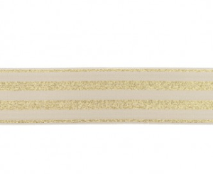 Elastiek sand beige en goud 40mm