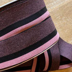 Pink triostripe- Zachte elastiek 4cm