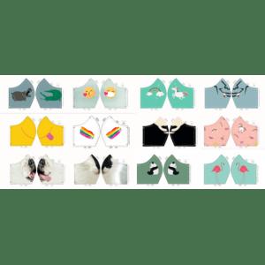 Kids mondmasker stof -(per paneel 12 patronen)