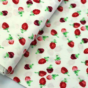 Tastes like strawberries- popeline katoen