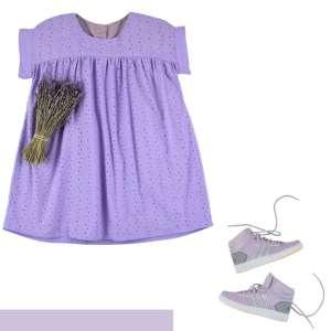 Lavender- katoen broderie