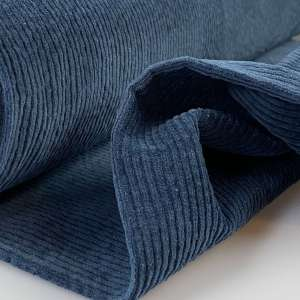 Dark Denim – Bubble Wash Ribfluweel Corduroy