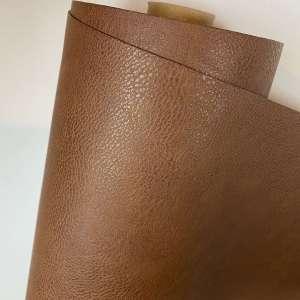 Cognac kunstleder- tassenstof