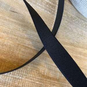 Elastiek 2cm- zwart