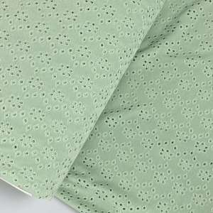 Ash mint – tricot broderie
