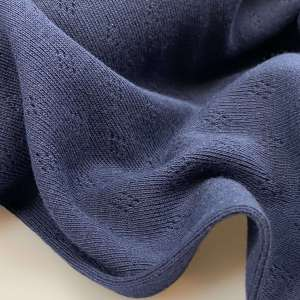Dark Navy- Pointelle tricot