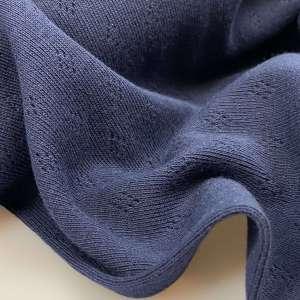 Dark Navy- Pointelle tricot