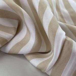 Paulette soft camel stripe- viscose
