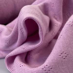 Pink- Pointelle tricot
