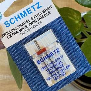 Schmetz universele tweelingnaald EXTRA breed 6,0/100