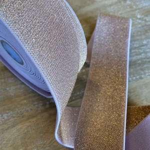 Soft pink Glitter- Zachte elastiek 5cm