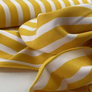 Aila Grace yellow stripe-viscose crêpe