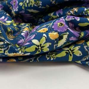 Subtle purple flowers- viscose
