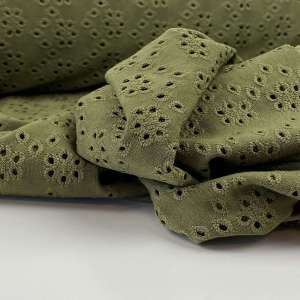 Olive green – tricot broderie