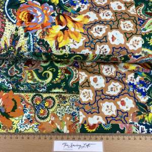 Bohemian flowers- viscose tricot