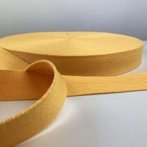 Tassenband geel 40 mm