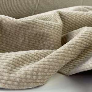 Soft beige- Bubble Wash Ribfluweel Corduroy