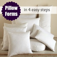 Pillow Form Insert: Printable Size Chart