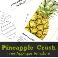 Pineapple Crush- Free Pineapple Applique