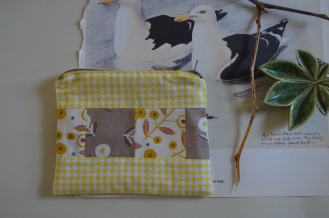 patchwork zipped pouch