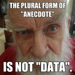 Plrual of anecdote