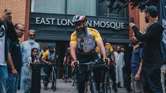 Nine British Muslims have cycled 3,000 km from London to Madinah in 6 weeks to perform Hajj