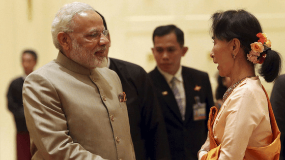 PM Modi announces gratis visa for Myanmar citizens, lauded Suu Kyi's role against Rohingyas