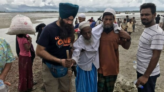 Rohingya crisis Sikh volunteers committed to provide langar till the crisis ends