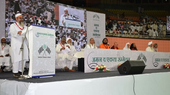 Jamiat Ulema-e-Hind multi-religious conference adopts violence against innocent is anti-Islamic and anti-humanity